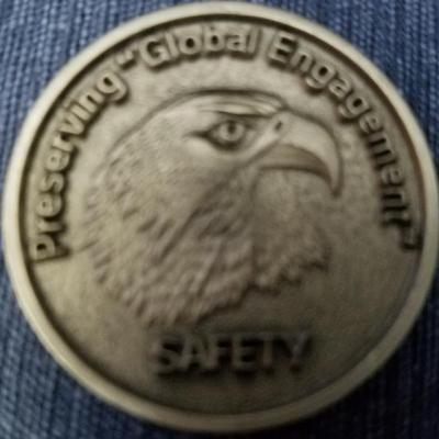 Early Rare USAF Safety Center Commander's Challenge Coin back