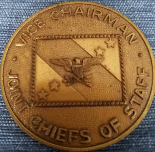 Authentic Vice Chairman of the Joint Chiefs Of Staff Admiral William A Owens Challenge Coin