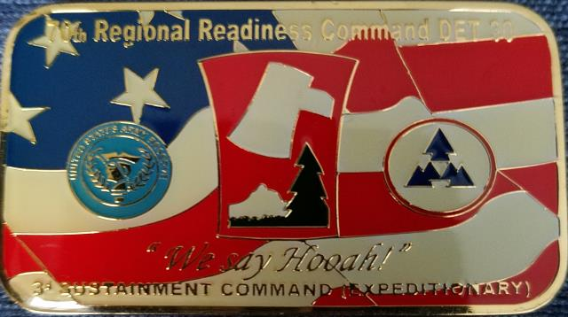 70th Regional Readiness Command Det 30 3rd Sustainment Bde Expeditionary Joint Base Balad Iraq OIF 07-09