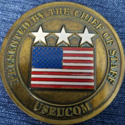 United States European Command Chief of Staff US EUCOM COS Command Coin back