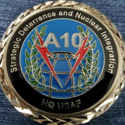 HQ USAF Strategic Deterrence and Nuclear Integration A-10 Office Challenge Coin by Phoenix Challenge Coins back