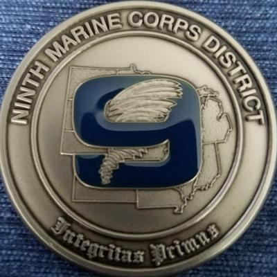 USMC 9th Recruiting District Commander's Coin