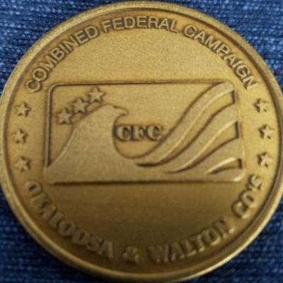 Combined Federal Campaign 2002 Okaloosa and Walton Counties Challenge Coin