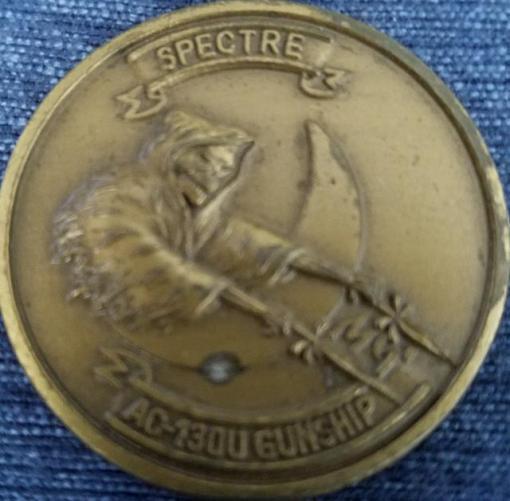 Rare AFSOC 16th SOS AC-130U Spectre Gunship Challenge Coin