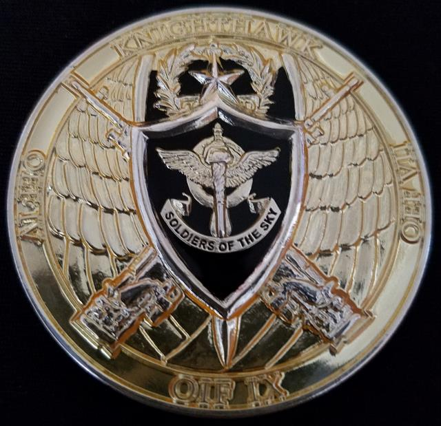 10th Aviation Regiment OEF Deployment Commanders Challenge Coin Presented in Combat