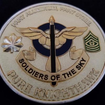 10th Aviation Regiment OEF Deployment Commanders Challenge Coin Presented in Combat back