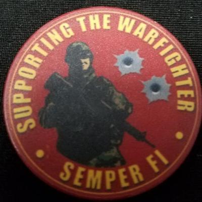 USMC Modern day marine 2009 poker chip back
