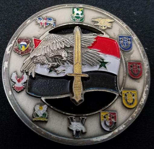 Combined Joint Special Operations Task Force-Arabian Peninsula CJSOTF-AP 10th Special Forces Group Airborne Commanders Combat Excellence Award Challenge Coin back