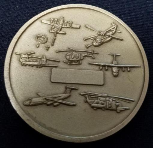 JSOC Tier 1 CIA ISA Aviation Tactics and Evaluation Group AVTEG Commanders Challenge Coin back