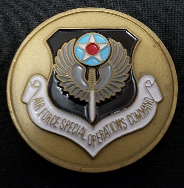 CINCAFSOC USAF Special Operations Command CG Challenge Coin