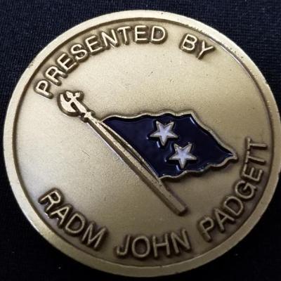 US Navy Commander Submarine Forces Pacific Fleet COMSUBPACFLT RADM John Paggett Profunde Cogitate Commanders Challenge Coin back