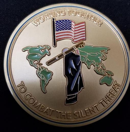 Rare US Gvt Interagency MANPADS Working Group Custom Challenge Coin by Phoenix Challenge Coins
