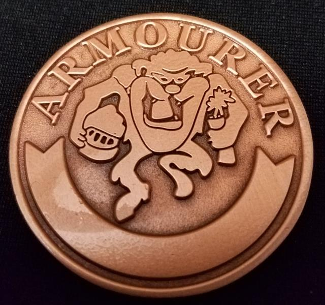 Discovery Air Weapons Technician Armorer Tazmanian Devil TAZ Challenge Coin By Phoenix Challenge Coins