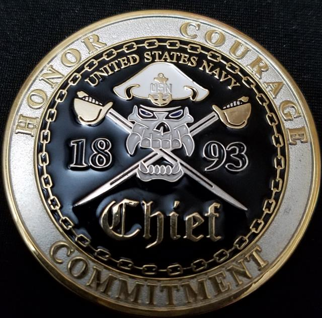 US Navy Chief Challenge Coin by Phoenix Challenge Coins