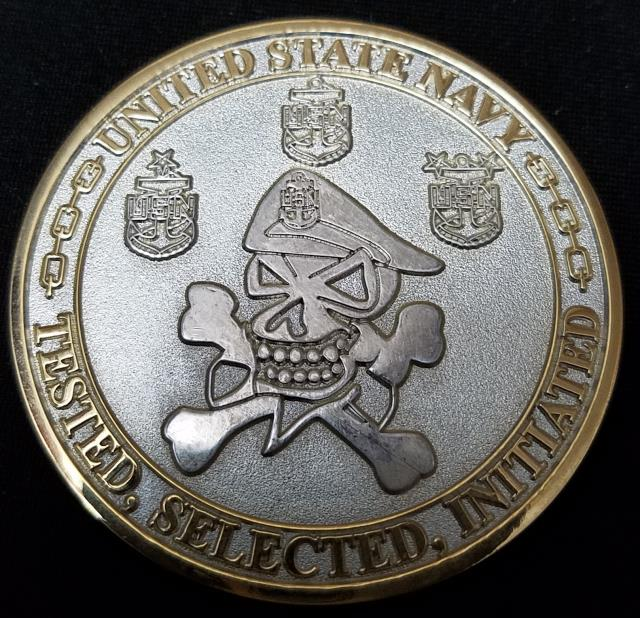 US Navy Chief Challenge Coin by Phoenix Challenge Coins back