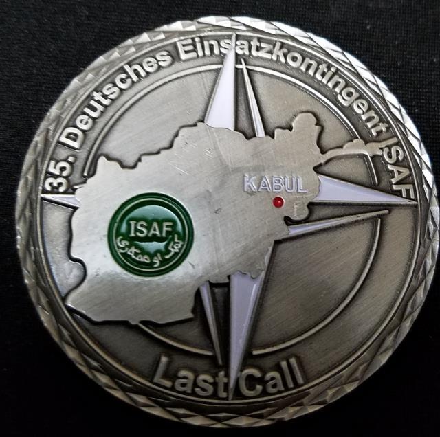 German 35 Kontingent Kabal ISAF Deployment Commanders Challenge Coin By Phoenix Challenge Coins back