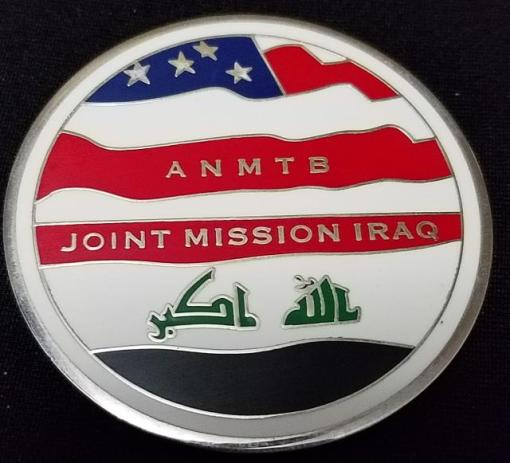 ANMTB Joint Mission Iraq Team Forcado An Numaniyah MTT MNF-I OIF 09-10 Combat Advisors Deployment Custom Challenge Coin By Phoenix Challenge Coins