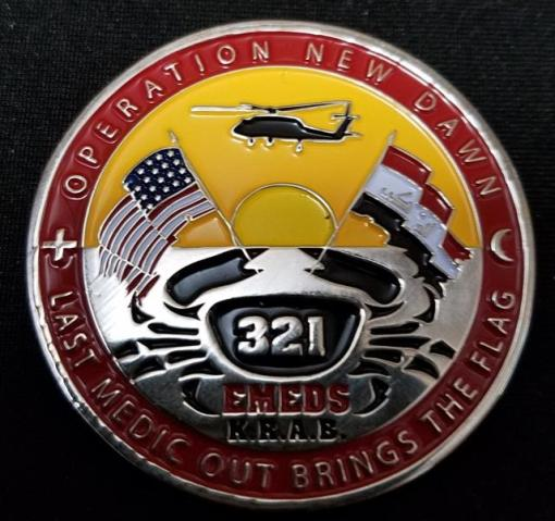 USAF 321st EMDS Kirkuk Air Base Operation New Dawn OND Combat Medic Deployment Challenge Coin By Phoenix Challenge Coins back