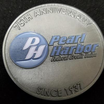 Pearl Harbor Credit Union 75th Anniversary Challenge Coin by Phoenix Challenge Coins
