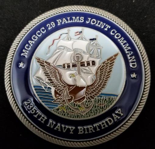MCAGCC 29 Palms Joint Command USN Birthday Ball Challenge Coin by Phoenix Challenge Coins