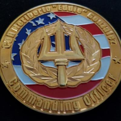 USN Naval Airborne Weapons Maintenance Unit One Guam Commanders Custom Coin by Phoenix Challenge Coins back