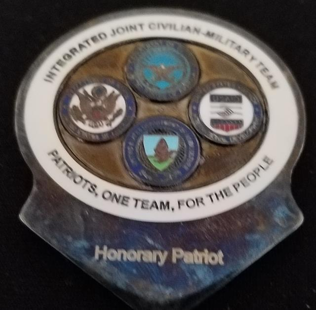 PRT Kapisa Integrated Joint Civ-Mil OEF Deployment Custom Challenge Coin by Phoenix Challenge Coins back