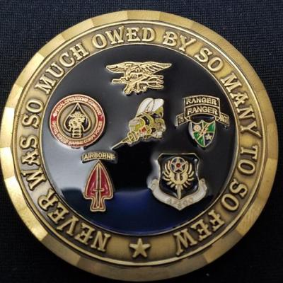USN Seabee NMCB 18 Special Operations CJSTOF-A Det OEF Deployment Challenge Coin By Phoenix Challenge Coins back