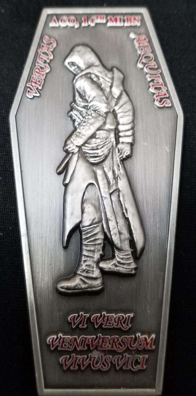 A Co 14th MI Battalion Assassins Challenge Coin by Phoenix Challenge Coins
