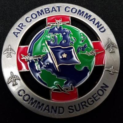 US Air Combat Command Surgeon Brigadier General Challenge Coin by Phoenix Challenge Coins