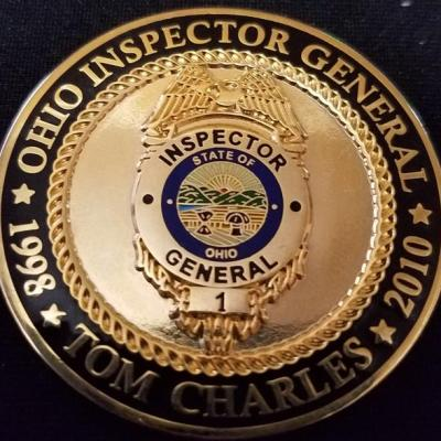Ohio Inspector General Tom Charles Association of Inspector Generals Challenge Coin by Phoenix Challenge Coins