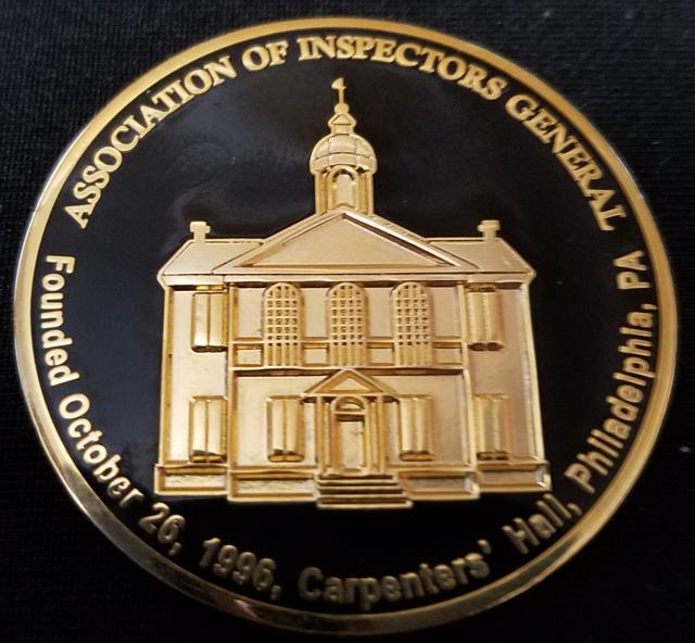 Ohio Inspector General Tom Charles Association of Inspector Generals Challenge Coin by Phoenix Challenge Coins back