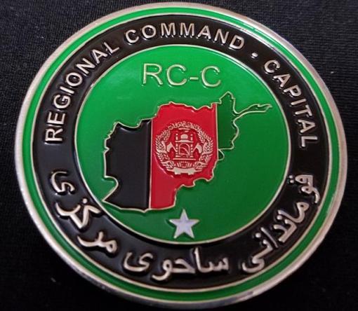 OEF Regional Command Capital RCC-C US State Dept Senior National Representative Challenge Coin