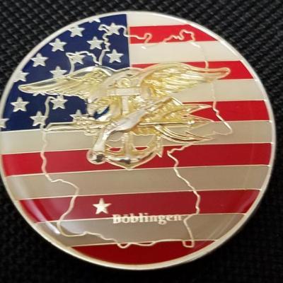 US Naval Special Warfare Unit 2 Boblingen Germany SEAL team SBU team SBS Challenge Coin back