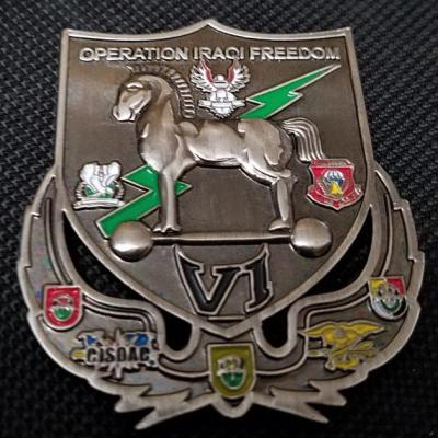 CJSOTF-AP Combined Joint Special Operations Command Arabian Peninsula OIF 6 10th SFG Commanding Deployment Challenge Coin back