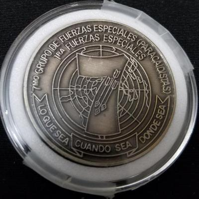 US Army 7th SFG (A) 7th Special Forces Group (Airborne) Spanish Language challenge coin