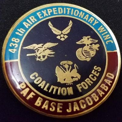 Special Operations Task Group Pakistan USAF 438th Air Expeditionary Wing PAF Jacobabad challenge coin