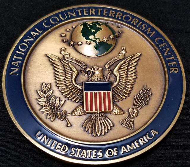 Rare US Intelligence Community National Counter Terrorism Center NCTC Large Medallion