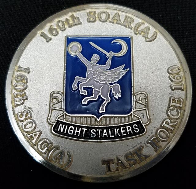 ARSOAC 160th Special Operations Aviation Regiment 160TH SOAR(A) Night stalkers 20th Anniversary Challenge Coin back