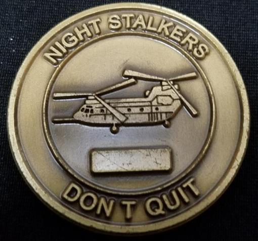 ARSOAC 160th Special Operations Aviation Regiment 160TH SOAR(A) Night stalkers Work Horse Recovery Battalion Challenge Coin back