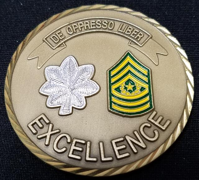 1/10th SFG (A) 1st Battalion 10th Special Forces Group Boblingen Germany Command Team Challenge Coin back