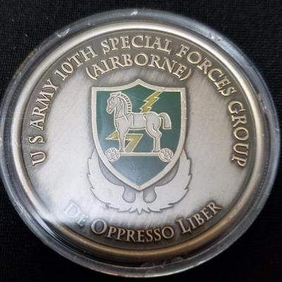 10th SFG (A) 10th Special Forces Group Command Team Challenge Coin