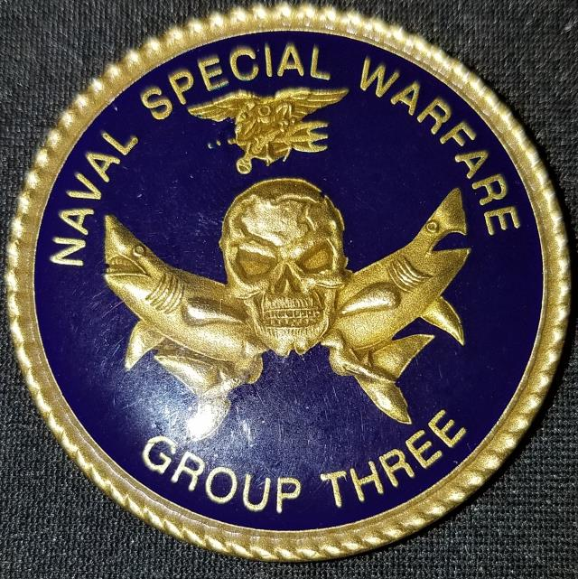 Naval Special Warfare Group 3 NSWG-3 Navy Chief Goat locker Challenge Coin