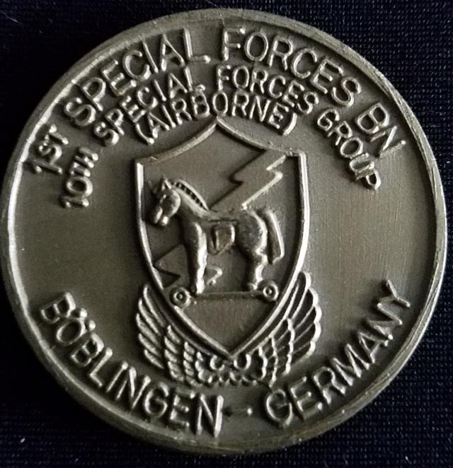 1/10th SFG (A) 1st Battalion 10th Special Forces Group Boblingen Germany V2 Challenge Coin