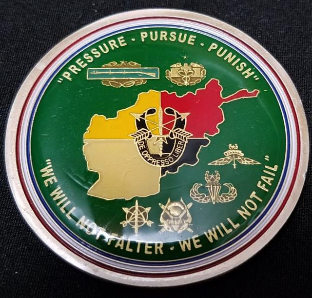 1/3 SFG (A) 1st Battalion 3rd Special Forces Group (Airborne) Task Force 31 TF-31 OEF Deployment challenge coin back