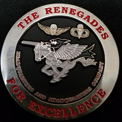 ARSOAC 160th Special Operations Aviation Regiment HHC 160TH SOAR(A) Night Stalkers Renegades Headquarters Headquarters Company Challenge Coin