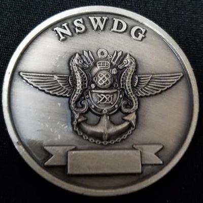 Rare early Version US Navy Seal Team Six DEVGRU NSWDG Naval Special Warfare Development Group Challenge Coin V7 back
