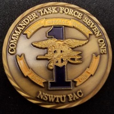 Naval Special Warfare Task Unit 1 NSWTU PAC NSWTU-1 SOCPAC Command Master Chief Navy SEAL SOCM Brad Lucas Challenge Coin