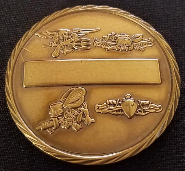 Naval Special Warfare Group 3 NSWG-3 Round Challenge Coin  back
