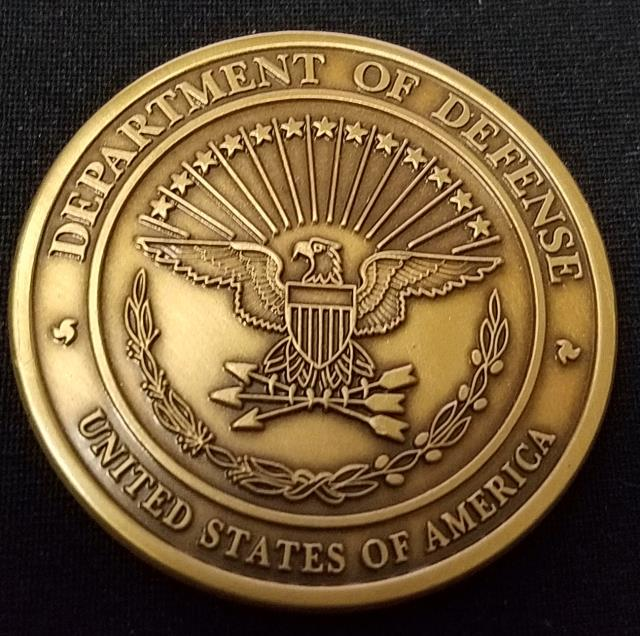 Rare US Department of Defense ASECDEF SOLIC Office of the Assistant Secretary of Defense for Special Operations Low Intensity Conflict challenge coin