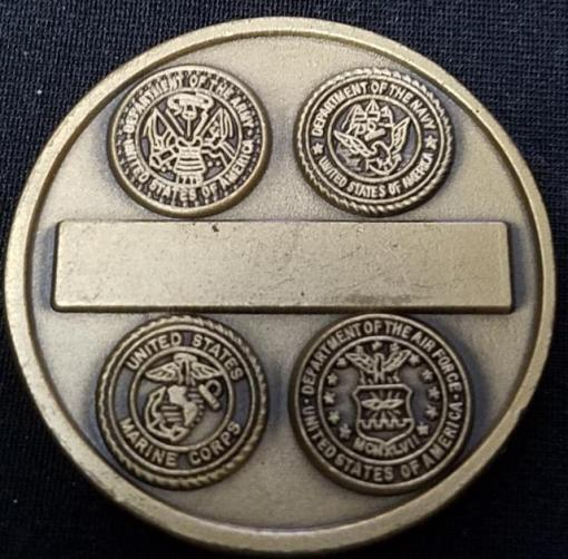 JSOC Tier 1 CIA ISA Sea Spray Aviation Tactics and Evaluation Group AVTEG Commanders Challenge Coin V2 back